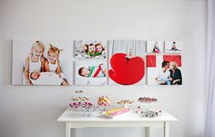 photo wall- (to display all my DIY faux canvas pictures)