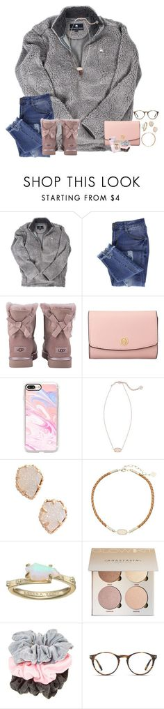 """~rtd~"" by taylortinsley ❤ liked on Polyvore featuring Essie, UGG, Tory Burch, Casetify, Kendra Scott and Persol"