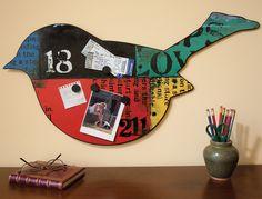 Love this little bird (metal memo board) $49.95