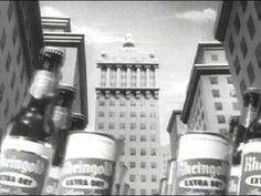 """""""MY BEER IS RHEINGOLD!!!"""" While we're on the subject of beer, here is an over-the-top animated commercial for Rheingold Beer from the 1950s. In contrast to the '56 Budweiser ad posted earlier, this one is decidedly uncool. It seems to be aimed at children, with its stop-motion animation beer parade down Fifth Avenue (!!!). This crazy-as-hell relic from the 1950s is loads of fun! (P.S. Sorry it gets cut off before the end. All the YouTube versions I found are the same.)"""