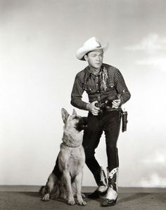 Roy Rogers and his Wonder Dog, Bullet. I love this picture. Only thing that could make it better was if Trigger was in it.