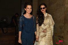 Rekha & Kangana Ranaut Watch Tanu Weds Manu Returns