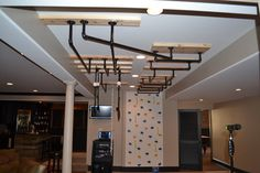 Finished basement steam room finished basement home gyms for Fitness 19 kids room