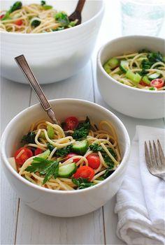 Summer Spaghetti Salad / Bev Cooks
