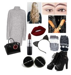 """""""Untitled #42"""" by stacymitchell-sm on Polyvore featuring Acne Studios, Muk Luks, MAC Cosmetics, Lime Crime, Givenchy, Urban Outfitters, MICHAEL Michael Kors and Charlotte Russe"""