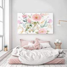 Rolled (Un-stretched) Canvas Keira Garden Watercolor Canvas Wall Art Canvas Giclee Senay Studio Abstract Floral High quality archival print Watercolor Canvas, Floral Watercolor, Watercolour Paintings, Stretched Canvas Prints, Canvas Wall Art, Canvas Canvas, Fine Art Prints, Room Decor, Design