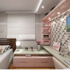 Boa noite quartinho da menina... projeto lindo da @daysebraga_arquitetura #quartodemenina #rosa #pink