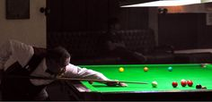KARACHI: A pose of Muhammad Yousuf during the Jublee Insurance Snooker Championship, here on Saturday. -Photo by Sohail Rafiq
