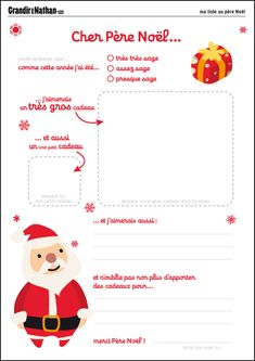 diy Santa letter to More Source by karinecharland French Christmas, Noel Christmas, Christmas Crafts For Kids, Winter Christmas, Printable Letters, Free Printable, Theme Noel, Santa Letter, Teaching French