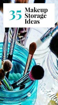 Vanity Organization, Organization Hacks, Diy Vanity Storage, Diy Storage, Storage Drawers, Food Storage, Makeup Storage Solutions, Storage Ideas, Small Storage