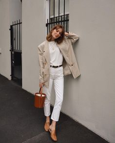 40 Graceful Blazer Outfits Ideas For Women, Spring Outfits, Moda Outfits, Komplette Outfits, Spring Outfits, Casual Outfits, Fashion Outfits, Outfit Summer, Swag Fashion, Style Fashion, Dope Fashion