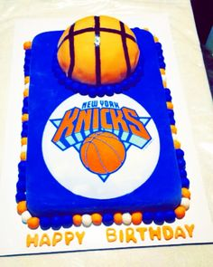 NY Knicks Jersey and basketball cakeby Hey There Cupcake Kearny
