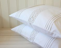 white pillow covers set of two by Tuuni on Etsy, Baby Pillow Set, Throw Pillow Sets, Pillow Cases, Throw Pillows, Heart Pillow, Pillow Talk, Sewing Pillows, Diy Pillows, Decorative Pillows