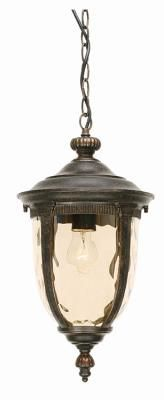 Small Outdoor Ceiling Chain Lantern in Weathered Bronze with Amber Glass | lighting | neuhome