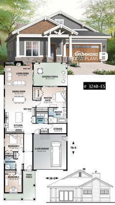 Tiny House Plans 651685008567211298 - Environmentally Superior Craftsman bungalow, ceiling, open floor plan, large covered terrace Source by Sims House Plans, Garage House Plans, New House Plans, Dream House Plans, Modern House Plans, Dream Houses, Craftsman Bungalow House Plans, Bungalow Floor Plans, Craftsman Bungalows
