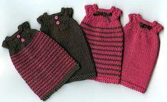 Un petit cadeau à télécharger pour bien commencer l'année : voici un modèle de robe à tricoter pour vos Pullip - Robe Pullip.pdf