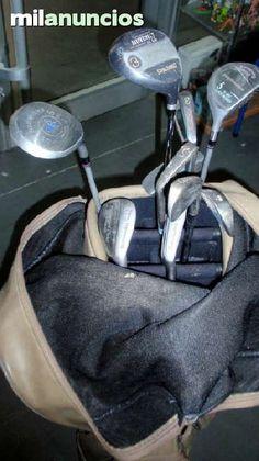 . Material deportivo golf juego de palos de golf - 10 palos con bolsa bolsa color marron makser  diferentes palos