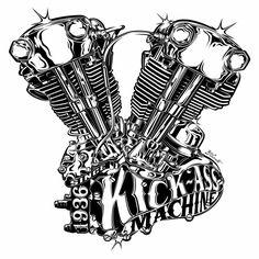 Harley-Davidson & Motorcycles on Behance Tatoo Harley Davidson, Harley Davidson Wallpaper, Harley Davidson Motorcycles, Harley Tattoos, Biker Tattoos, Motorcycle Art, Bike Art, Drawn Art, Garage Art