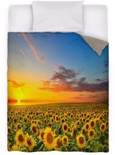 Beautiful Sunflowers! | bedroom ideas | | bedroom decor | | bedroom | #bedroom #bedroomdecor #Summerthemedhomedecorbedding #Summerthemedhomedecorcomforters #Summerthemedhomedecorduvetcovers  https://www.visionbedding.com/