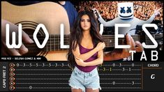 "Welcome to vvxo Fingertsyle Tab. This video is not a video tutorial, but a cover video that I mix with tabs. So friends can learn Fingerstyle about the song titled ""Wolves"" from ""Selena Gomez, Marshmello""."