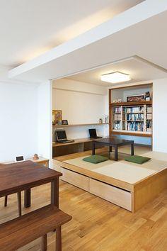LDKと一体感のある畳スペース (和室)