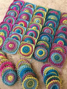 "Crochet ""circle of friends"" blanket made by @crochetbyali"