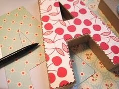 Paper letters to cover with scrapbook paper