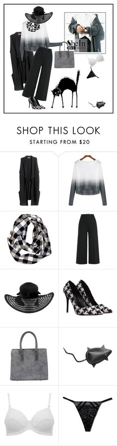 """Grey Scale"" by ul-inn ❤ liked on Polyvore featuring H&M, Jil Sander, Sandqvist, M&Co, Victoria's Secret, women's clothing, women, female, woman and misses"
