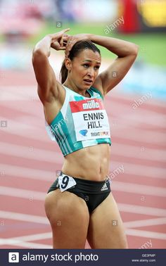 Jessica Ennis-Hill of the U. Jessica Ennis Hill, Jess Ennis, Sporty Girls, 100m Hurdles, Vaquera Sexy, Pernas Sexy, Beautiful Athletes, Poses References, Gymnastics Girls