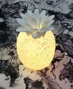 Bone China Pineapple Lamp | I Love Lights