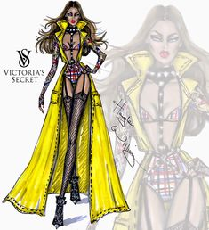#Hayden Williams Fashion Illustrations #Victoria's Secret 2014 collection by Hayden Williams 'Perfectly Punk'