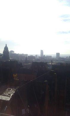 View over Leeds city centre Leeds City, City Skylines, Airplane View, Centre, Places, Lugares