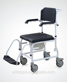 hot selling aluminum commode chair with wheel