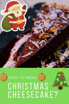 Take An Answer : How To Make a Christmas Cheesecake? Heavy Whipping Cream, Sour Cream, Frozen Yogurt Machine, Candied Pineapple, Foods With Iron, Christmas Cheesecake, Cherry Candy, The Dish, Raisin