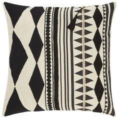 Jaipur Living Pillows Tribal Pattern Cosmic Pillow Tribal Pattern Cosmic Pillow: Linen pillow Features an embroidered design Designed by Nikki Chu Material: linen Care: Spot clean Brand: Jaipur Living Pillows Origin: Imported Linen Pillows, Decorative Throw Pillows, Bed Linens, Black Pillows, Decor Pillows, Sewing Pillows, Toss Pillows, Couch Pillows, Accent Pillows