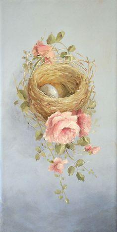 гнездо в розах