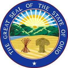 Ohio State Seal - We made a replica of this in 5th grade out of tiny colored stones.  Cool class project.