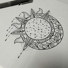 46 Ideas For Tattoo Mandala Sun Tatoo Star Tattoos, Body Art Tattoos, New Tattoos, Tatoos, Wrist Tattoos, Mandala Tattoo Design, Mandala Sun Tattoo, Celestial Tattoo, Moon Tattoo Designs