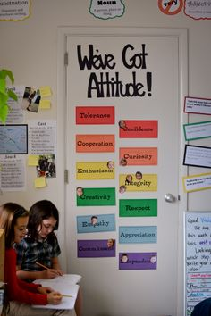 PYP Attitudes displayed in Ms. Adams' Grade 4 class at Annie Wright Day School.