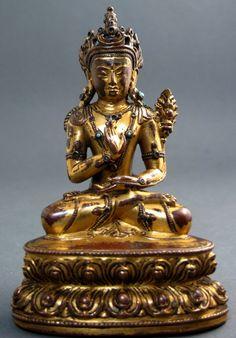 Maitreya - Tibet 15th c. - Gilt alloy of copper