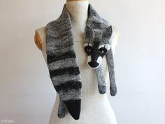Procione animale sciarpa lana infeltrita di celapiu su Etsy