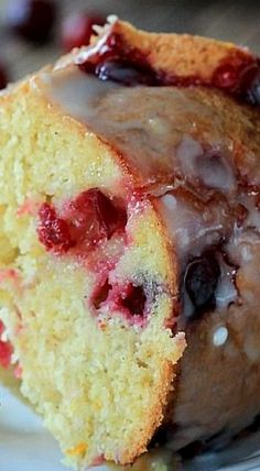 Cranberry Orange Bundt Cake with an Orange Glaze
