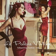 FREE SHIPPING Le Palais Vintage 2016 New Sexy Wine Red Fish Bone Sculpting Bandage Strapless Dress Women Slim Vestidos Clothing-in Dresses from Women's Clothing & Accessories on Aliexpress.com | Alibaba Group