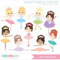 Little Ballerinas Clip Art / Digital Clipart - Instant Download