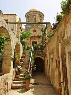Monastery of Akrotiri in Chania - Crete island, Greece