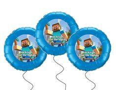 Minecraft printable balloon labels