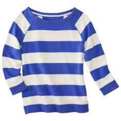 striped raglan top (perfect for print mixing)