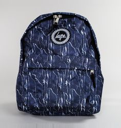 Hype Old Leather Backpack Navy-White
