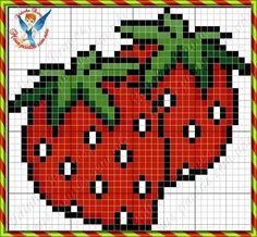 Strawberry cross stitch. Fruit X-S.