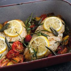 Baked Chicken with Cherry Tomatoes, Herbs and Lemon | Williams Sonoma